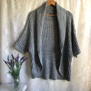 Express Gray Knit Open Front Cardigan Sweater M